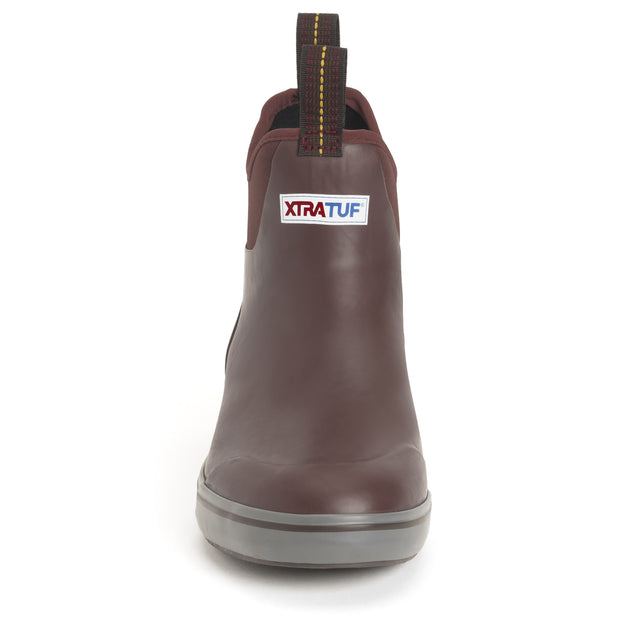 XTRATUF Men's 6 In Ankle Deck Boot Maroon
