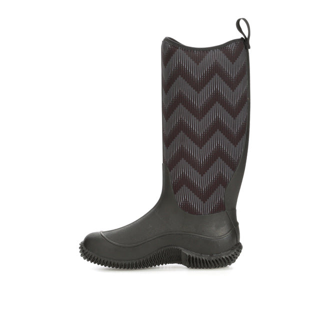 Muck Boot Women's Hale Rain Boot, Black/Black Chevron, 6 Regular US