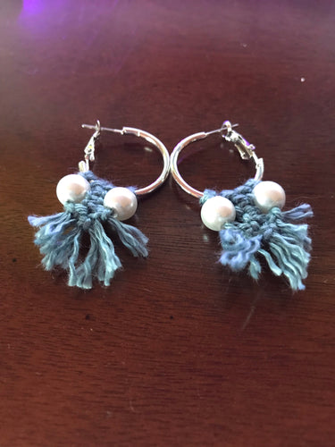 Twin Pearl Hoop Earrings