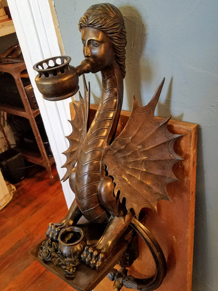 ***ON HOLD*** Bronze Dragon Sphinx Sculpture Door Knocker