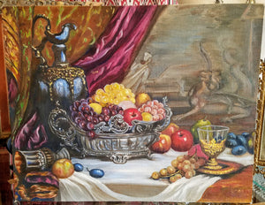 Still Life with Fruit and Griffin