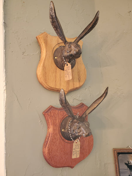 Cast Iron Jack Rabbit, Mounted