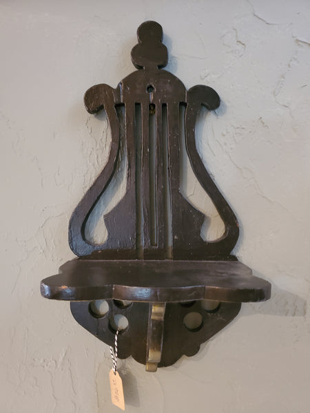 Black Lyre Wall Shelf B