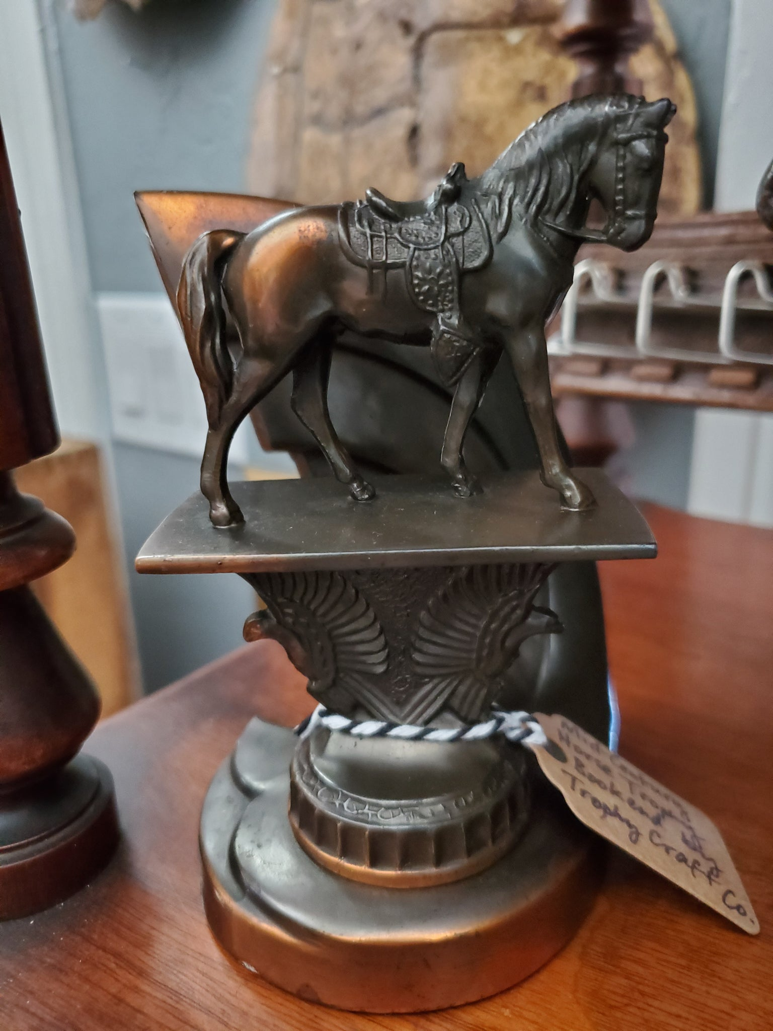 Mid-Century Horse Trophy Bookend by Trophy Craft Co.
