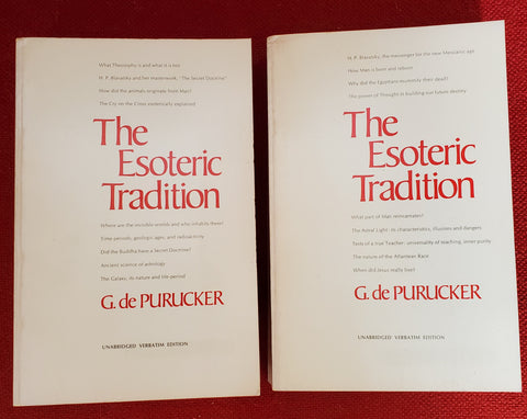 The Esoteric Tradition (2-volume set), G. de Purucker, 1973 Reprint Edition