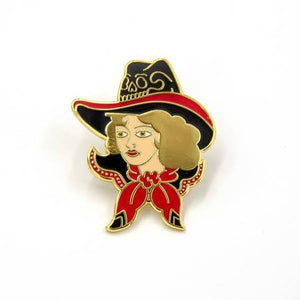 Enameled Pin - Gold Cowgirl