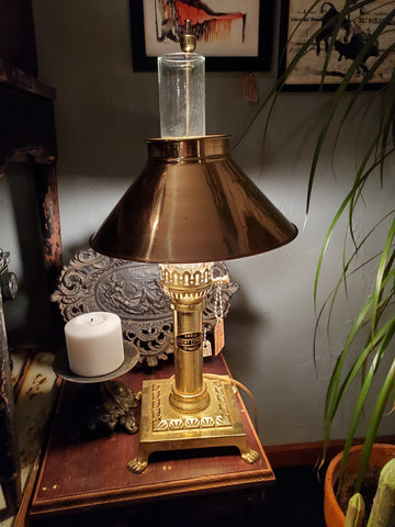 Vintage Footed Orient Express Lamp