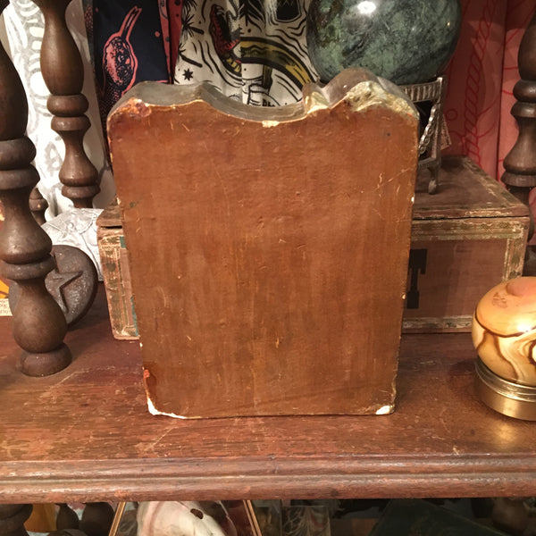 Antique Plaster Shriner Bookend
