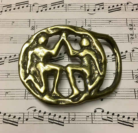 Brass Zodiac Horoscope Gemini Belt Buckle