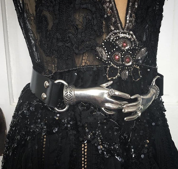 ***Reserved*** for 1st Payment - Victorian Style Clasping Hands Belt Buckle
