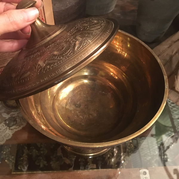 Solid Brass Altar Offering Bowl Dish