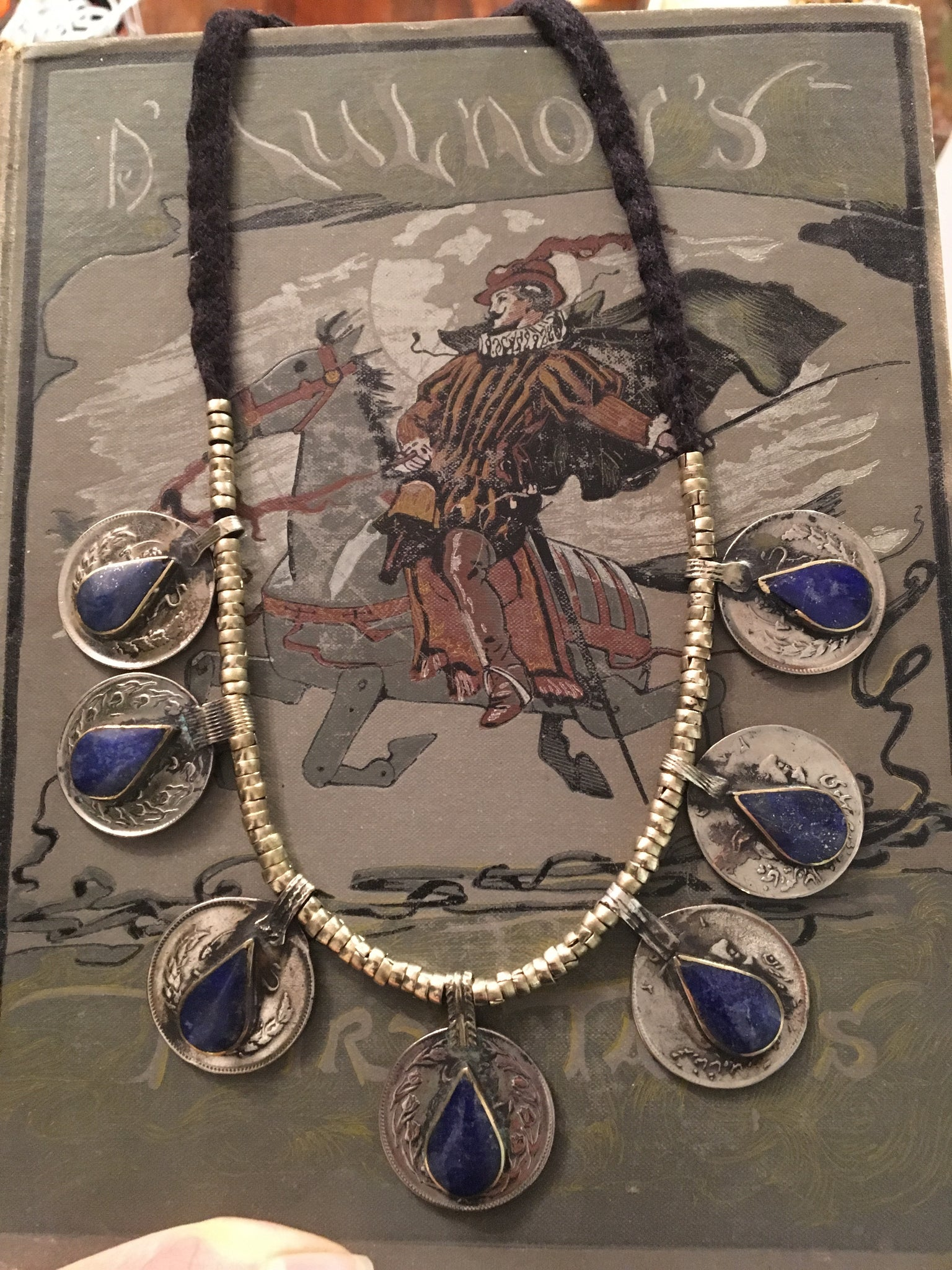 Afghani Lapis Coin Necklace