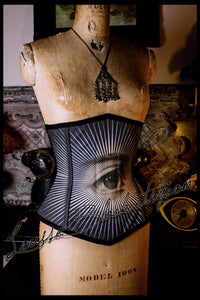 Reserved 2nd payment - The All Seeing Eye Corset by Louise Black