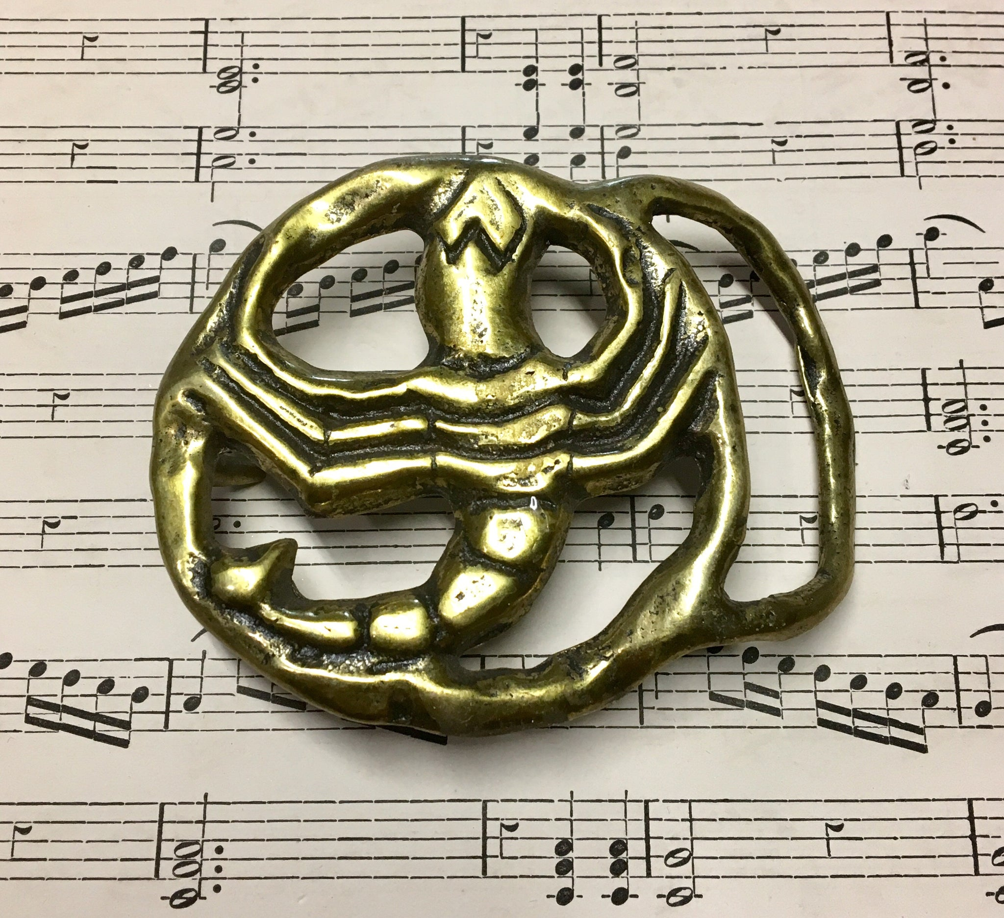 Brass Zodiac Horoscope Scorpio Belt Buckle