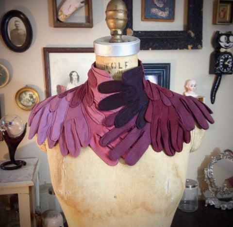 Reserved listing for Amanda Custom Glove Choker in Burgundy colorway