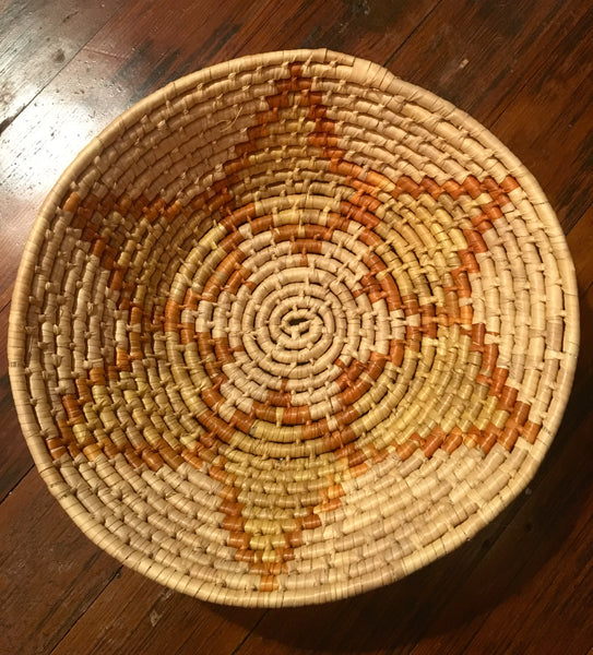 African Orange Star Basket