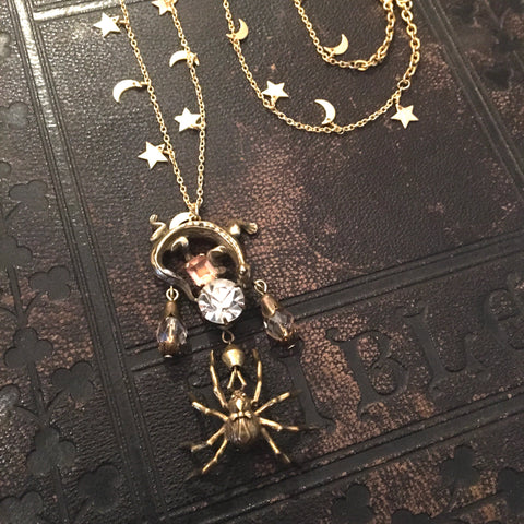 Natural History Spider and Lizard Necklace