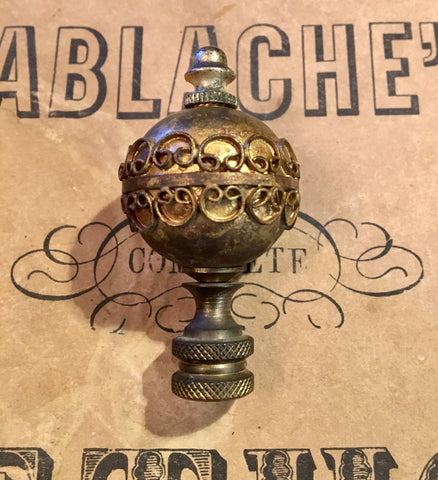 Fancy Vintage Round Lamp Finial