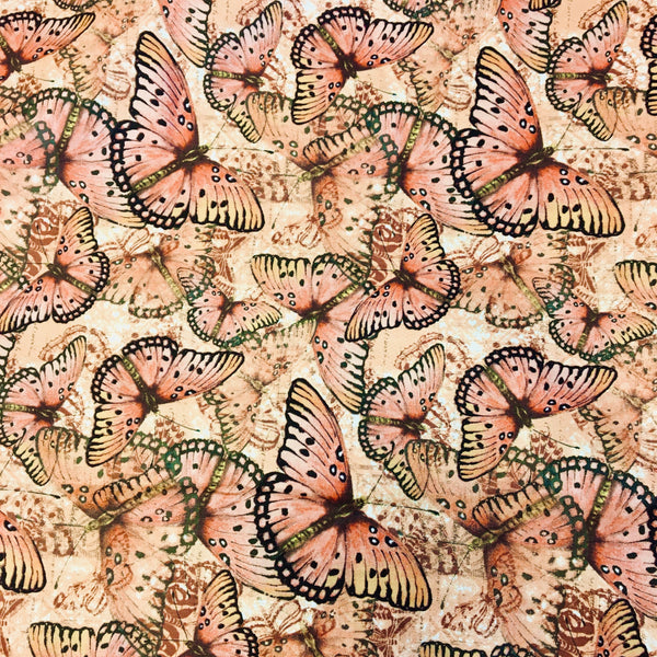 Reusable Fabric Face Mask Monarch Butterflies