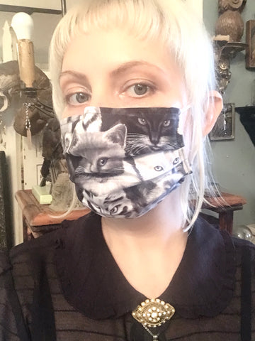 Reusable Fabric Face Mask Cats