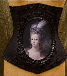 Marie Antoinette Cameo Corset in Solid Black or Stripe Fabrics