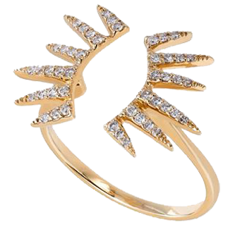 18K Yellow Gold Ring With Diamonds