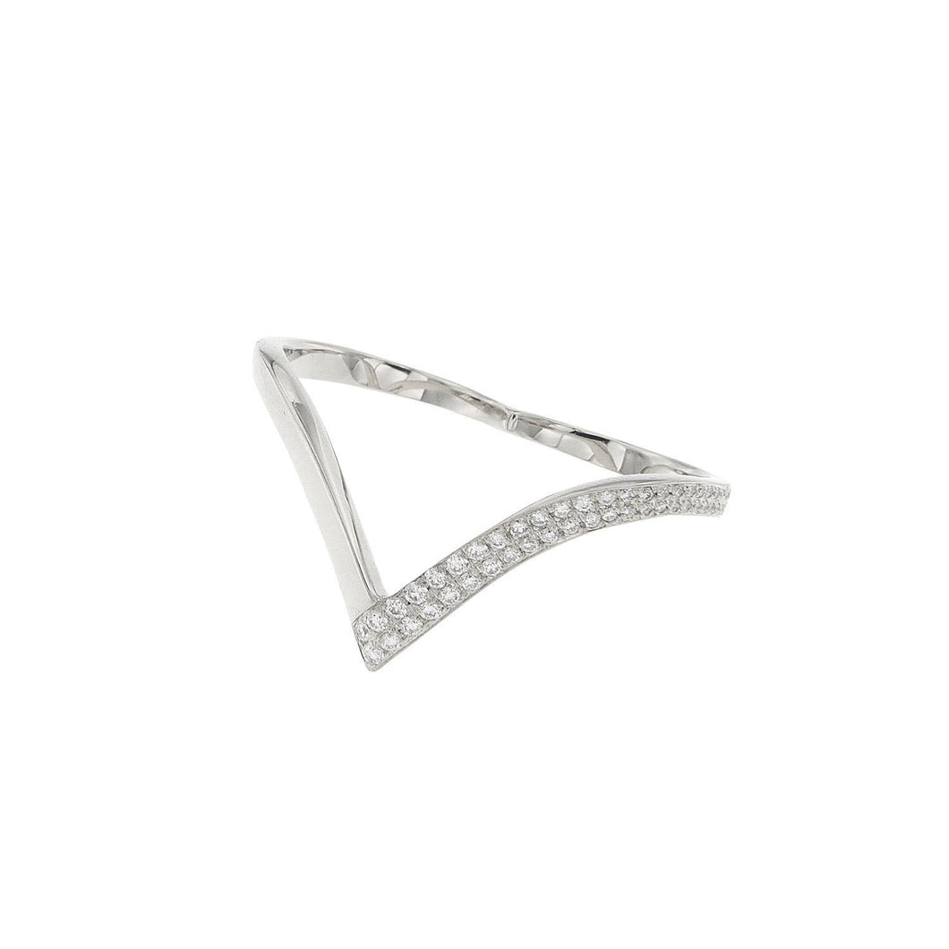 18K Diamond Two-Finger Ring