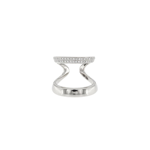 18K Diamond Double Ring