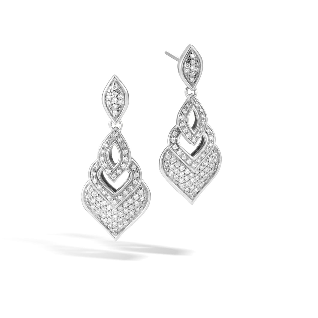 NAGA DROP EARRING WITH DIAMONDS