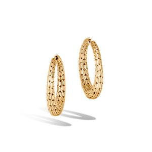 CLASSIC CHAIN GRADUATED SMALL HOOP EARRINGS