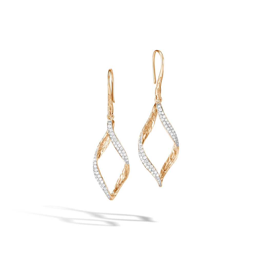 WAVE DROP EARRING WITH DIAMONDS