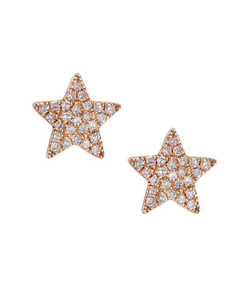 Star Stud Earring Diamond Earrings