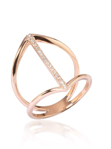 Straight Line Diamond Ring
