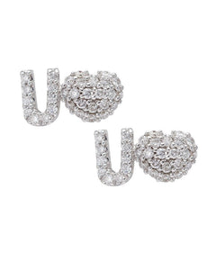 Heart U Diamond Earrings