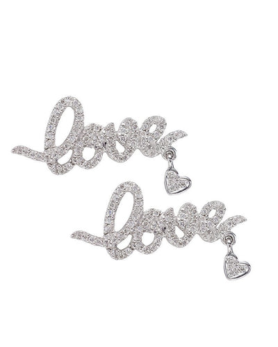 Love and Heart Diamond Earrings