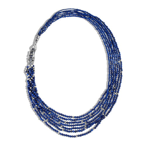 NAGA NECKLACE WITH LAPIS LAZULI, BLUE SAPPHIRE