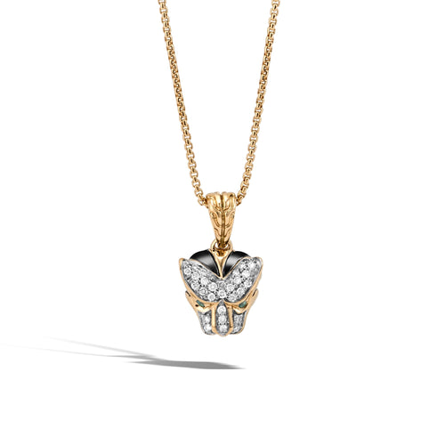MACAN PENDANT NECKLACE WITH DIAMONDS