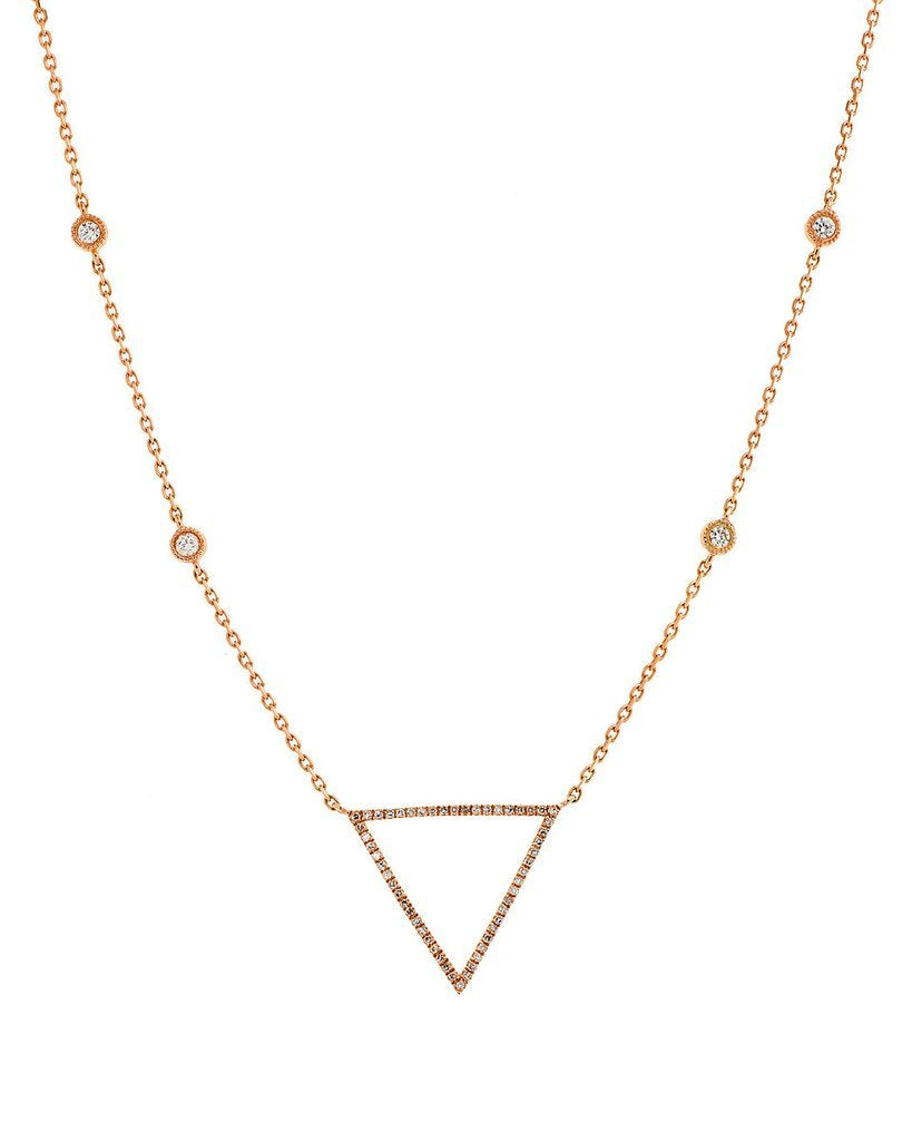 Open Triangle Necklace Diamond Necklace