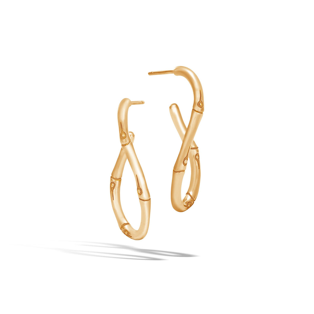 MEDIUM TWISTED HOOP EARRING