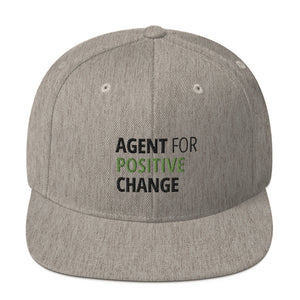 """Agent for Positive Change"" Grey Snapback Hat"