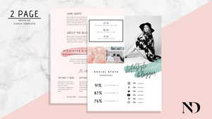 2 Page Media Kit Template - Pink