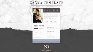 1 Page Media Kit Template - Periwinkle
