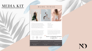 1 Page Media Kit Template - Tan