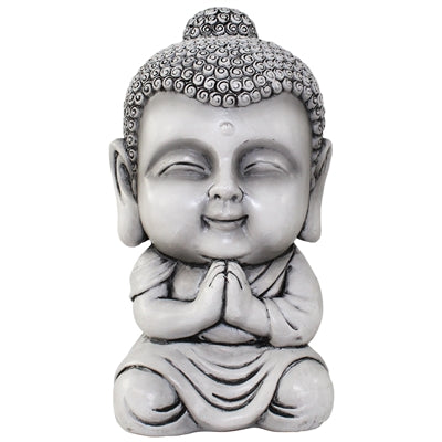 Gray and black Buddha bank