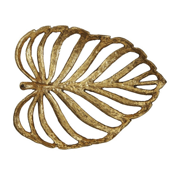 Decorative gold cast iron leaf.