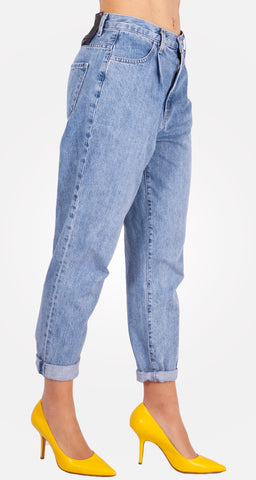 Jeans Plaeted Deg