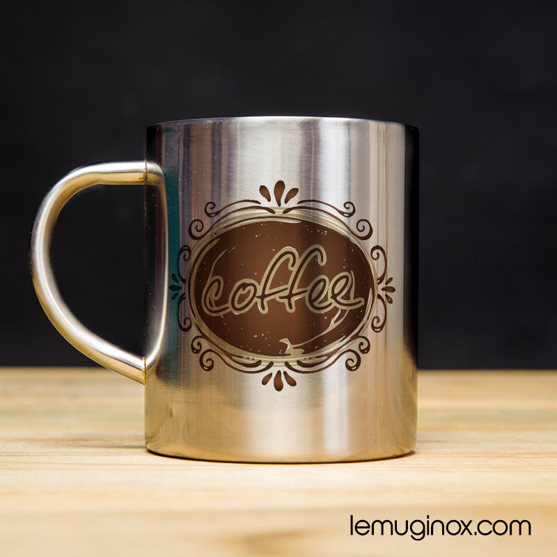 tasse en inox coffee
