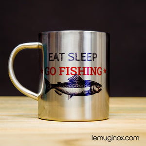 mug en inox Go fishing
