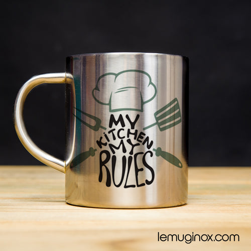 Tasse en Inox My Kitchen my rules