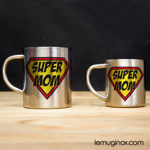 Tasse et mug en inox Super Mom